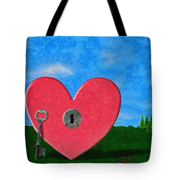 Key To My Heart Tote Bag by Jeff Kolker