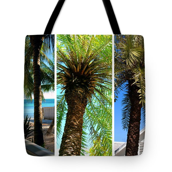 Key West Palm Triplets Tote Bag by Susanne Van Hulst
