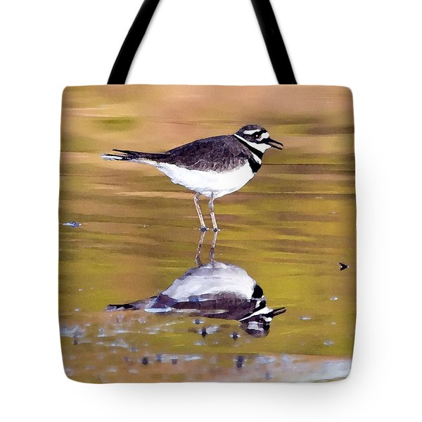Killdeer Reflection Tote Bag by Betty LaRue