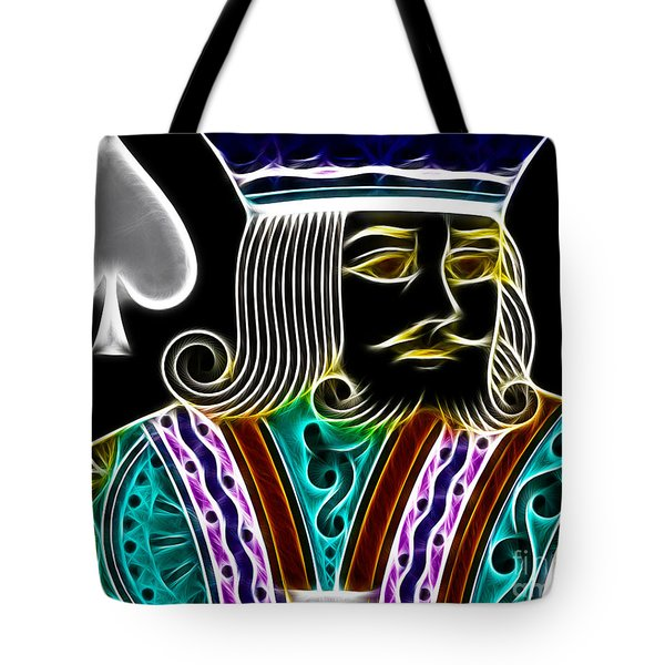 King of Spades - v4 Tote Bag by Wingsdomain Art and Photography