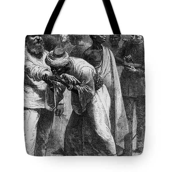 King Riouga And Samuel Baker, 1869 Tote Bag by Photo Researchers