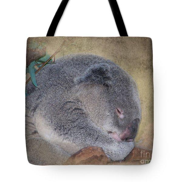 Koala Sleeping Tote Bag by Betty LaRue