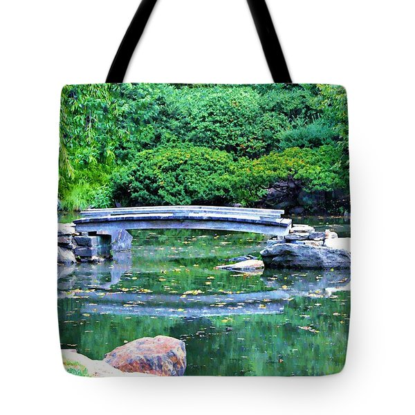 Koi Pond Pondering - Japanese Garden Tote Bag by Bill Cannon