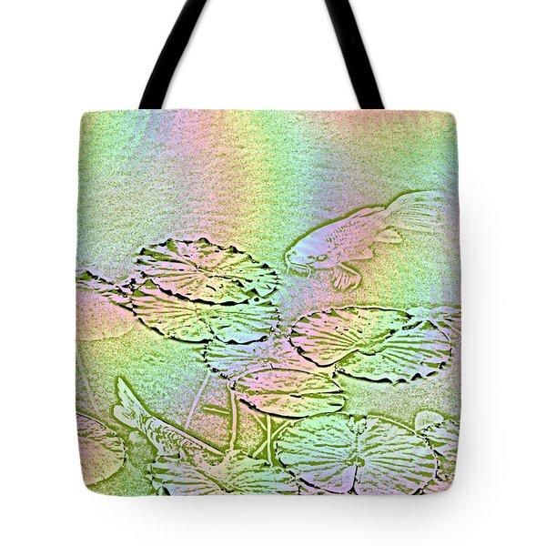 Koi Rainbow Tote Bag by Tim Allen