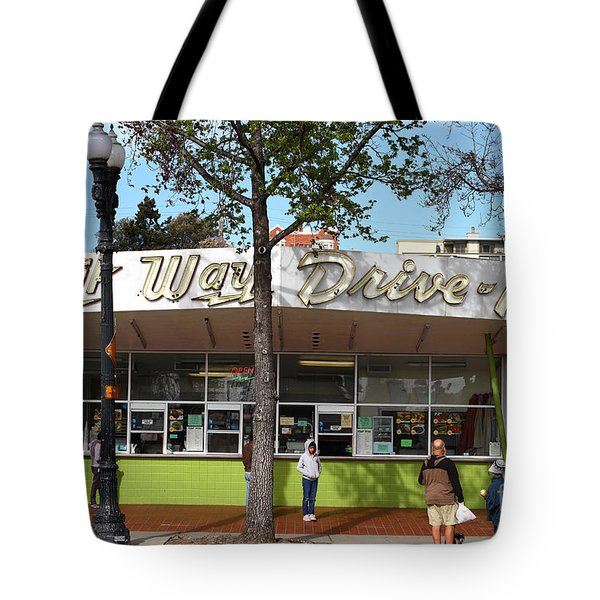 Kwik Way Drive-in Fast Food Restaurant . Oakland California . 7d13521 Tote Bag by Wingsdomain Art and Photography