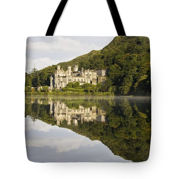 Kylemore Abbey, County Galway, Ireland Tote Bag by Peter McCabe