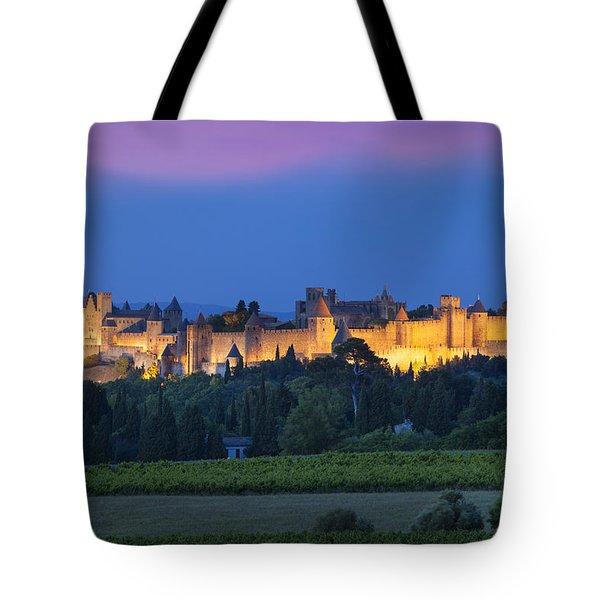 La Cite Carcassonne Tote Bag by Brian Jannsen