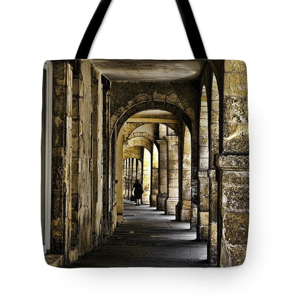 La Rochelle Sidewalk D1161 Tote Bag by Wes and Dotty Weber