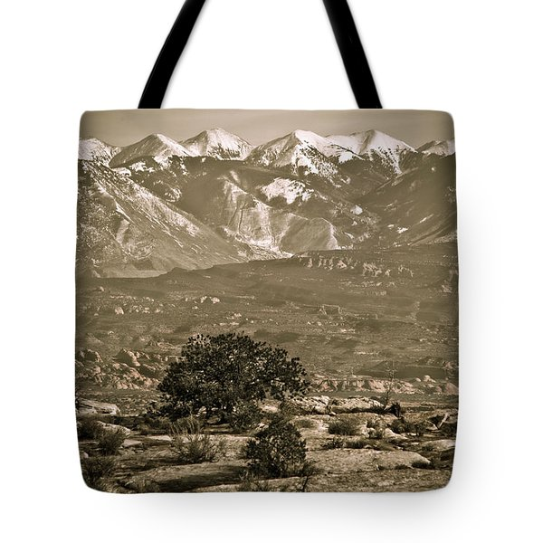 La Sal Mountains Utah Tote Bag by Marilyn Hunt
