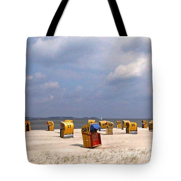 Laboe Beach ... Tote Bag by Juergen Weiss