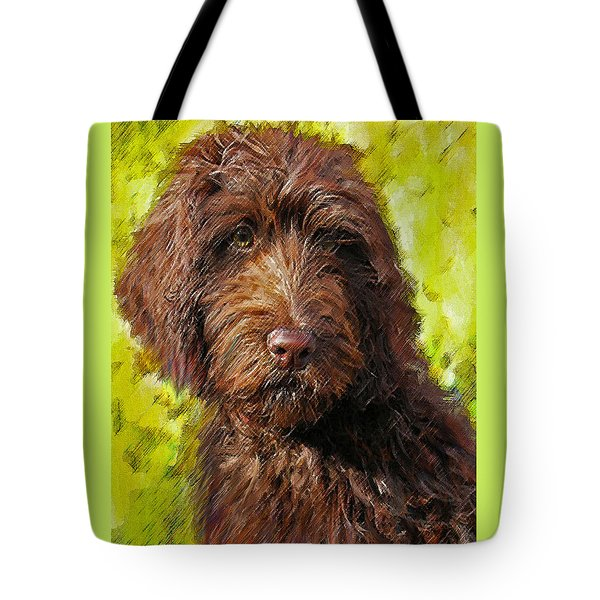 Labradoodle Tote Bag by Jane Schnetlage