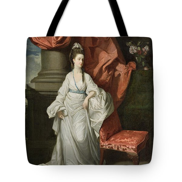 Lady Grant - Wife Of Sir James Grant Tote Bag by Johann Zoffany