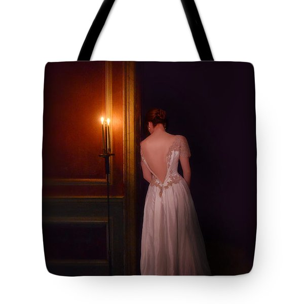 Lady In Candle Light Tote Bag by Jill Battaglia