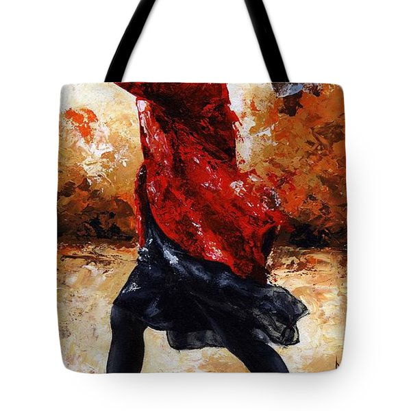 Lady In Red 28 Tote Bag by Emerico Imre Toth