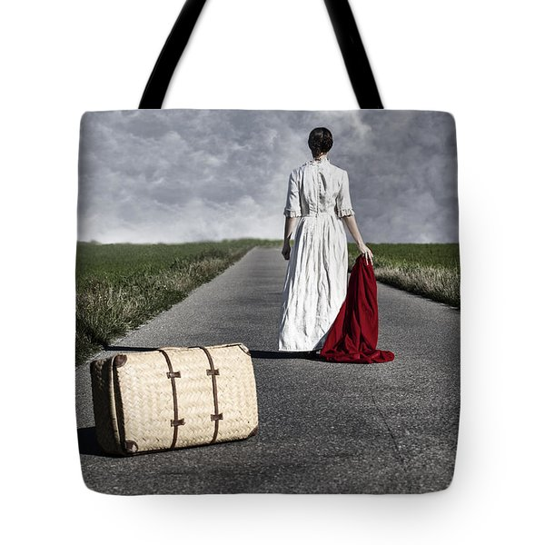 lady on the road Tote Bag by Joana Kruse