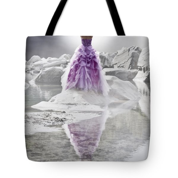 Lady On The Rocks Tote Bag by Joana Kruse