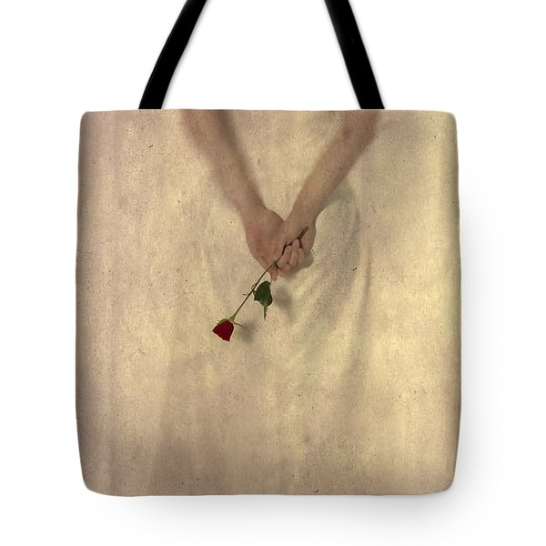 Lady with a rose Tote Bag by Joana Kruse