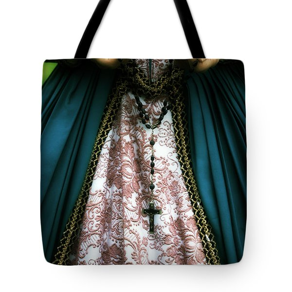 Lady With Rosary Tote Bag by Joana Kruse