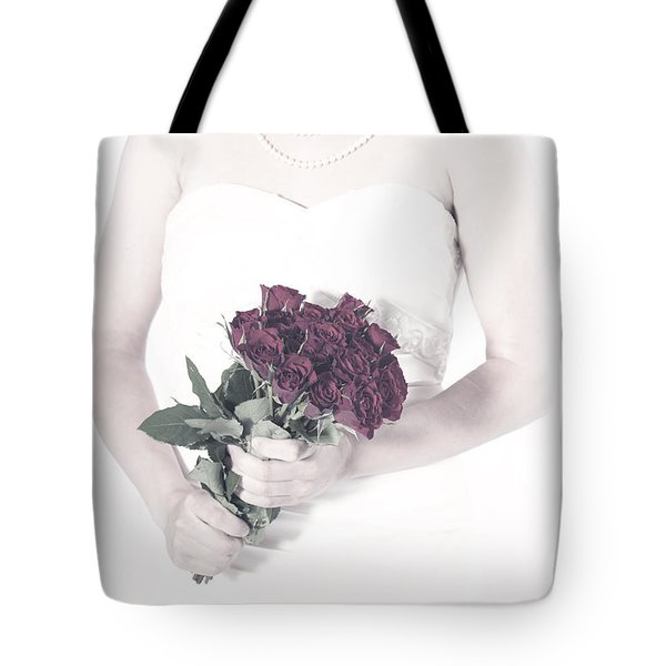 Lady With Roses Tote Bag by Joana Kruse