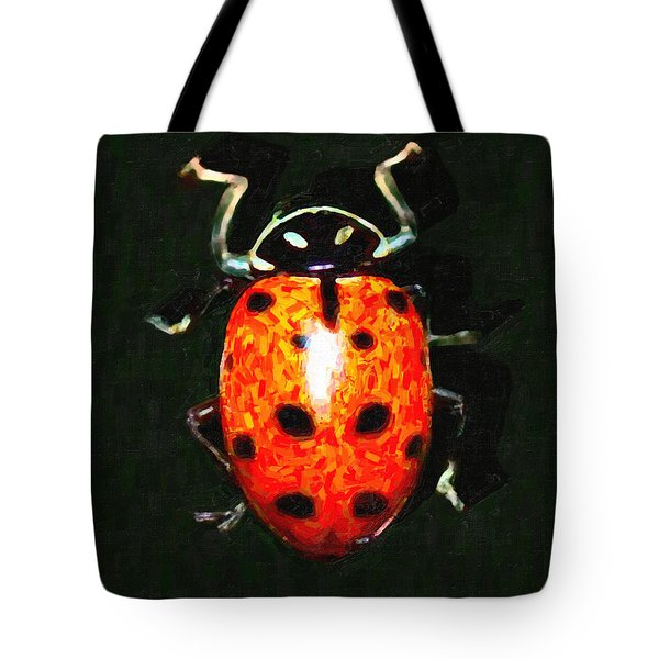Ladybug Tote Bag by Wingsdomain Art and Photography