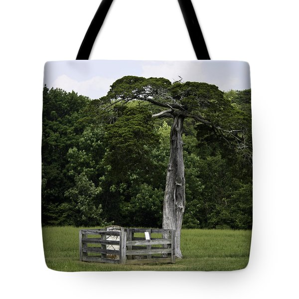 Lafayette Meeks Cemetery Appomattox Virginia Tote Bag by Teresa Mucha