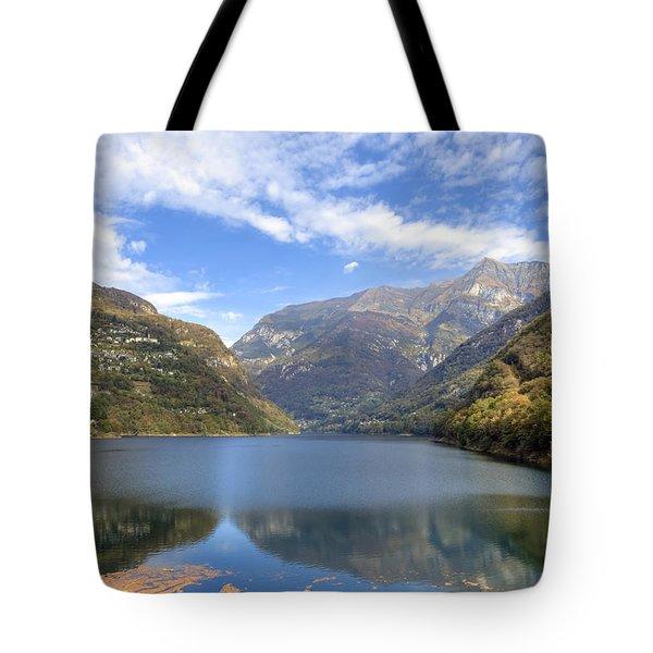 Lago Di Vogorno Tote Bag by Joana Kruse