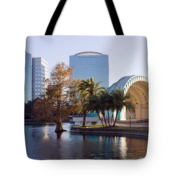 Lake Eola's  Classical Revival Amphitheater Tote Bag by Lynn Palmer