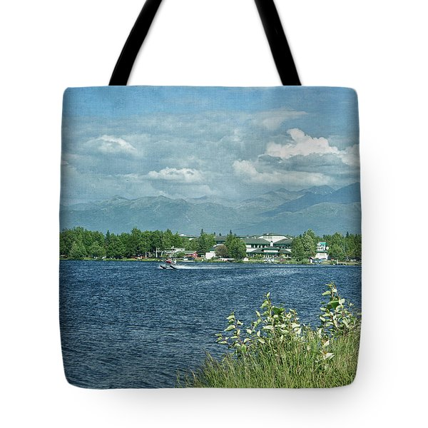 Lake Hood Anchorage Alaska Tote Bag by Kim Hojnacki