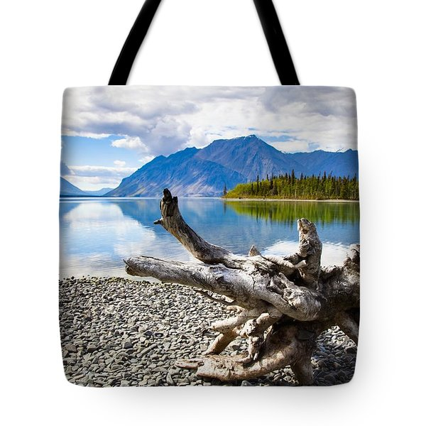 Lake Kathleen In Kluane National Park Tote Bag by Blake Kent