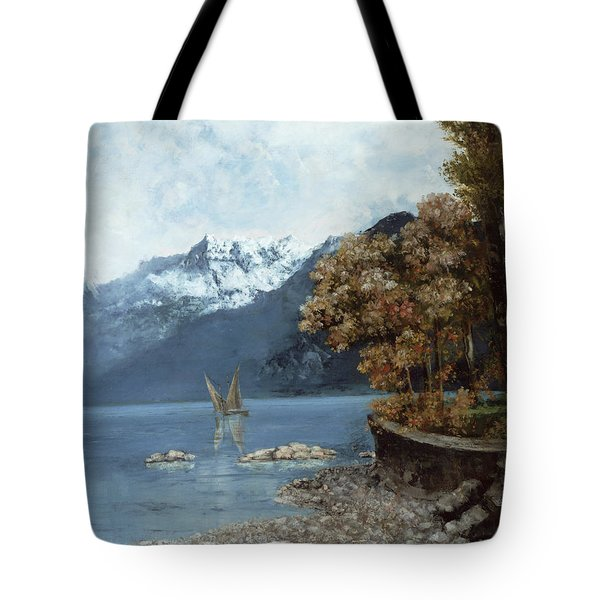 Lake Leman Tote Bag by Gustave Courbet