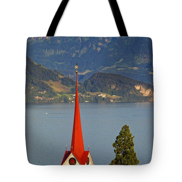 Lake Lucerne Tote Bag by Brian Jannsen