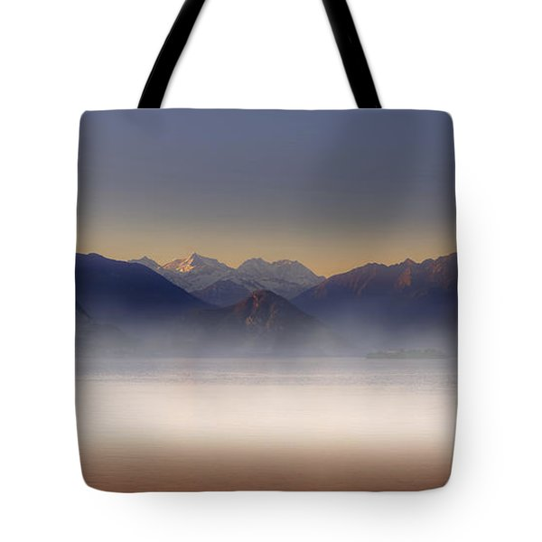 Lake Maggiore And Alps Tote Bag by Joana Kruse