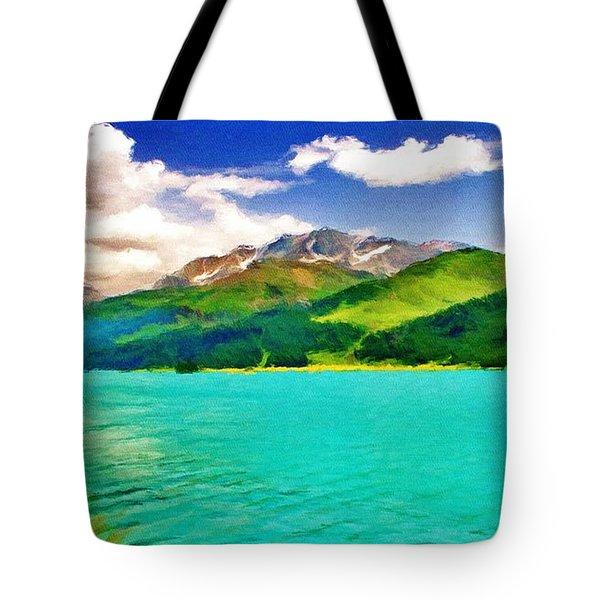 Lake Sils Tote Bag by Jeff Kolker