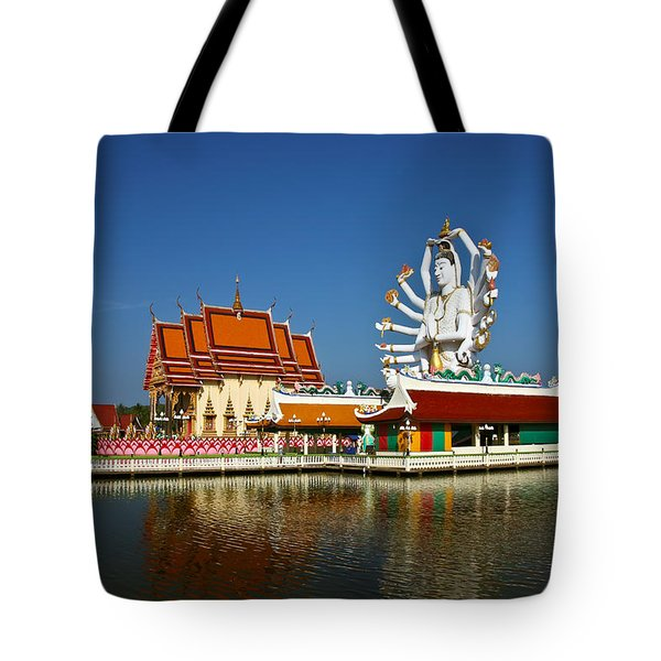 Lake Temple Tote Bag by Adrian Evans
