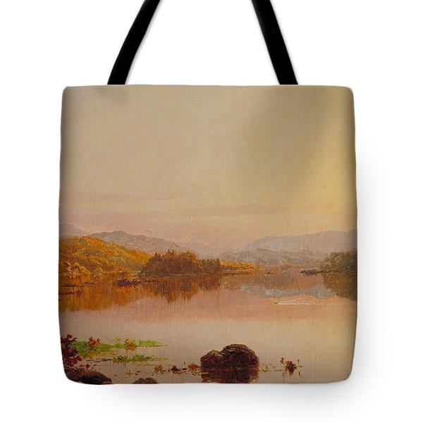 Lake Wawayanda Tote Bag by Jasper Francis Cropsey
