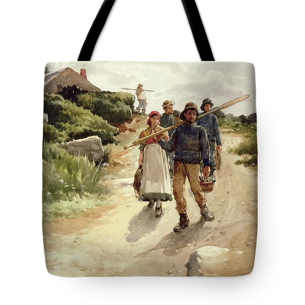 Lamorna Cove Cornwall Tote Bag by Walter Langley