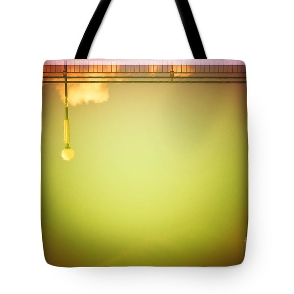 Lamp And Clouds In A Swimming Pool Tote Bag by Silvia Ganora