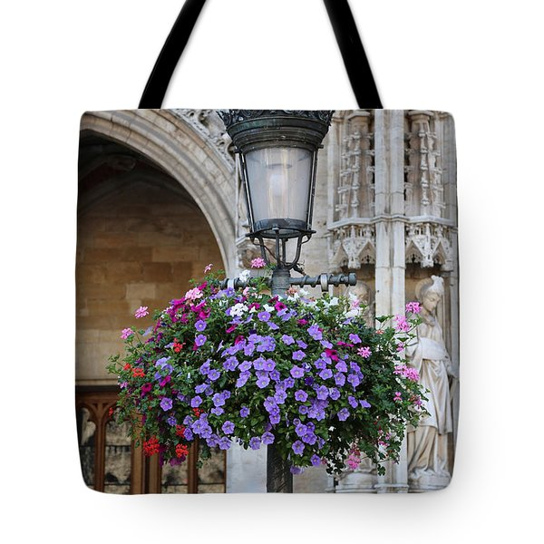 Lamp And Lace At The Grand Place Tote Bag by Carol Groenen