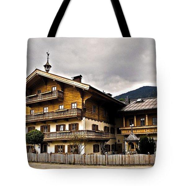 Landhaus Hofermuehle - Maria Alm  Tote Bag by Juergen Weiss