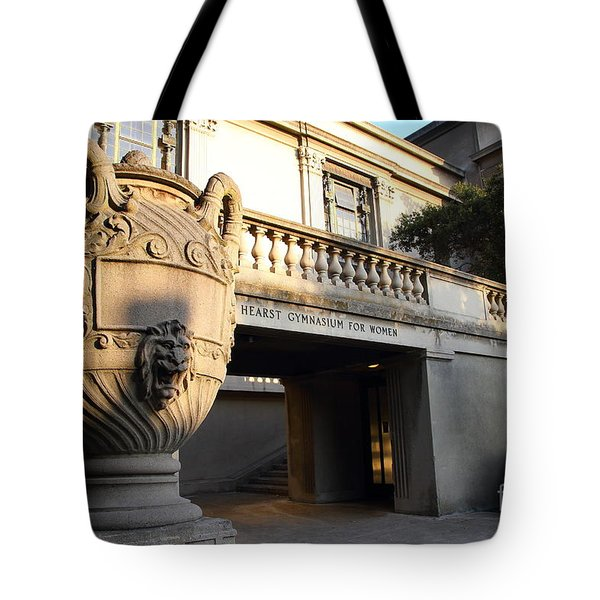 Large Urn With Lion Gargoyle At The Hearst Gymnasium For Women . Uc Berkeley . 7d10196 Tote Bag by Wingsdomain Art and Photography