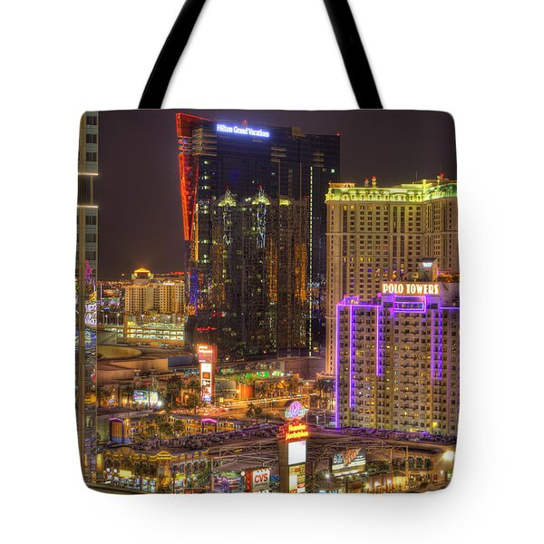Las Vegas Nevada Tote Bag by Nicholas  Grunas