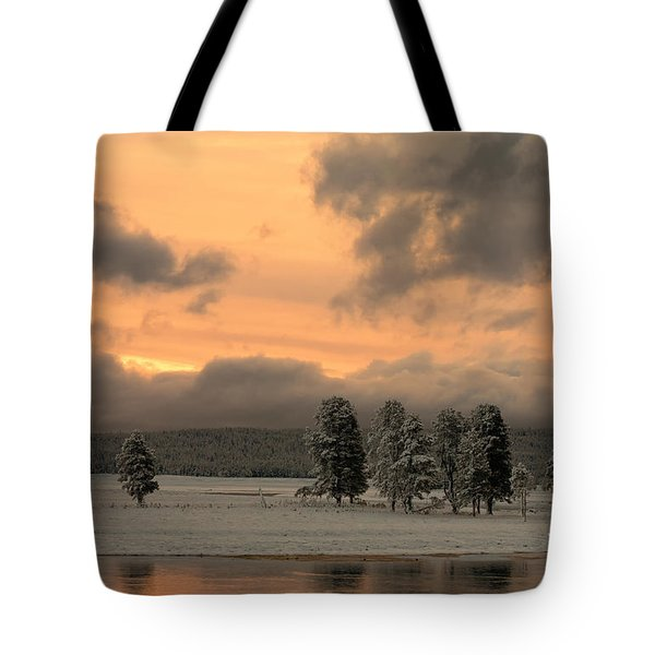 Late Spring Storm In Yellowstone Tote Bag by Sandra Bronstein