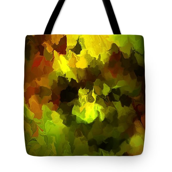 Late Summer Nature Abstract Tote Bag by David Lane