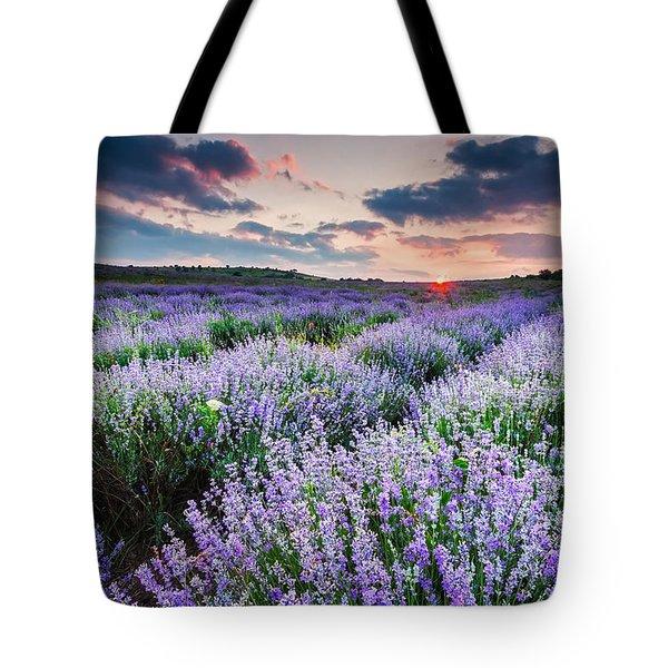Lavender Sea Tote Bag by Evgeni Dinev