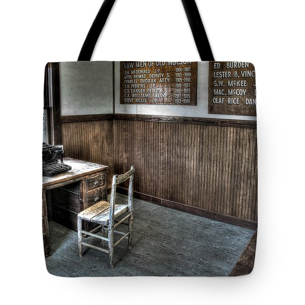 Law Man's Office - Molson Ghost Town Tote Bag by Daniel Hagerman