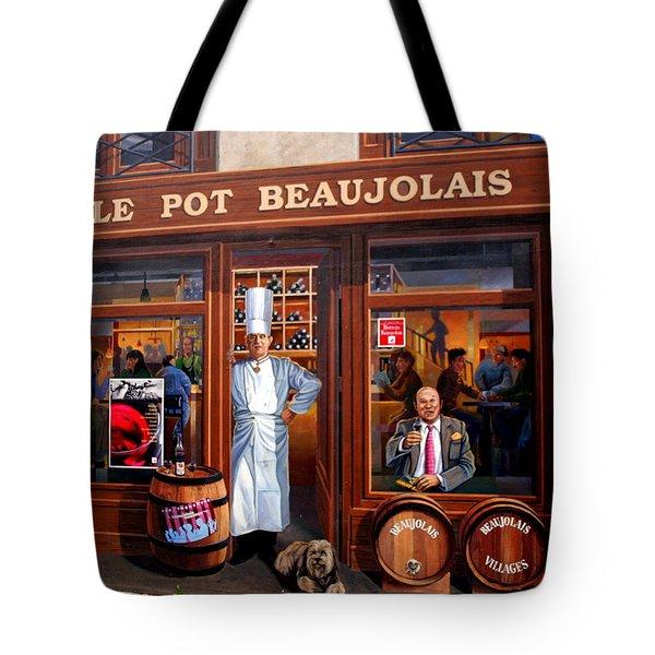 Le Pot Beaujolais Tote Bag by Laurel Talabere