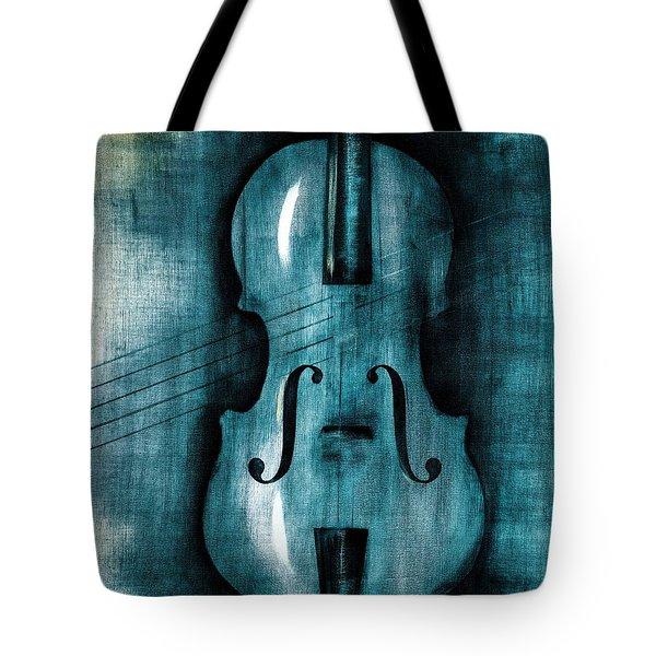 Le Violon Bleu Tote Bag by Hakon Soreide