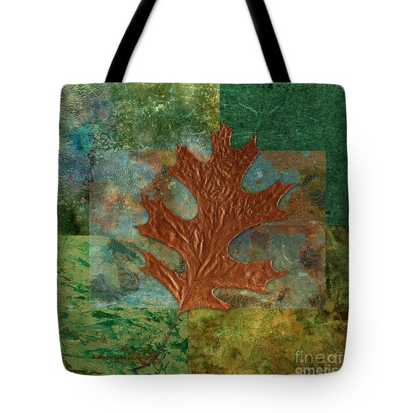 Leaf Life 01 - Green 01b2 Tote Bag by Variance Collections