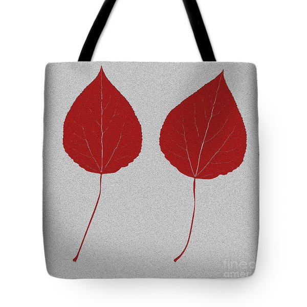 Leafs Rouge Tote Bag by Bruce Stanfield