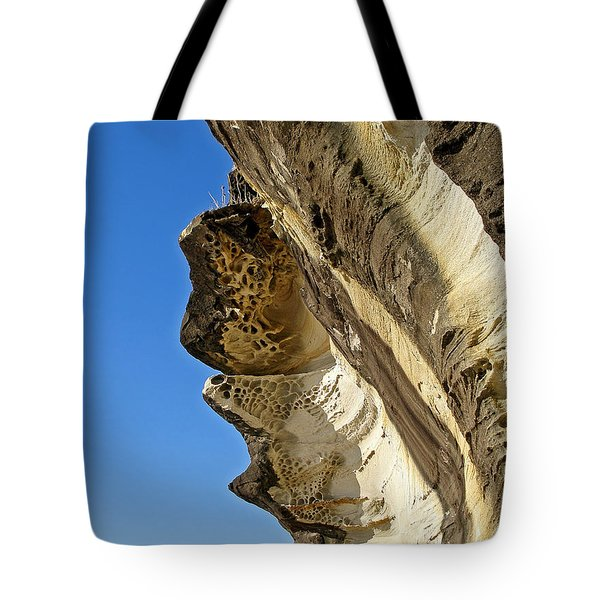 Leaning Rock Tote Bag by Kaye Menner